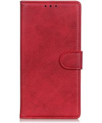 LG G8X ThinQ Matte Portemonennee Hoesje Rood