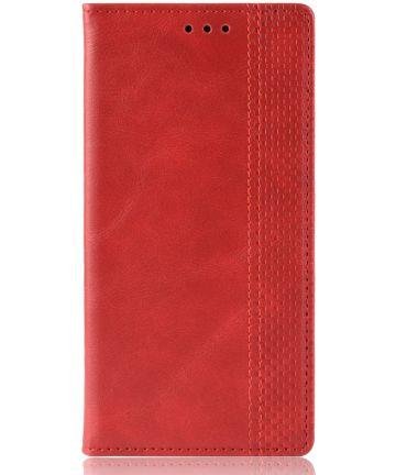 Huawei Mate 20 Stijlvol Vintage Portemonnee Hoesje Rood Hoesjes