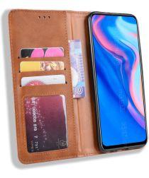 Huawei P Smart Z / Honor 9X Vintage Portemonnee Hoesje Bruin