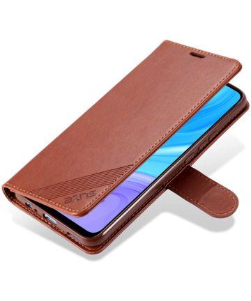 AZNS Huawei P Smart Z / Honor 9X Portemonnee Stand Hoesje Bruin Hoesjes