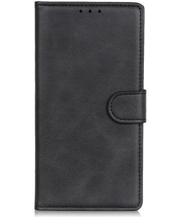 Motorola Moto E6s / E6 Plus Bookcase Hoesje Met Pasjes Zwart Hoesjes