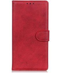 Motorola Moto E6s / E6 Plus Bookcase Hoesje Met Pasjes Rood