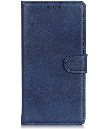 Motorola Moto E6s / E6 Plus Bookcase Hoesje Met Pasjes Blauw Hoesjes
