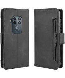 Motorola One Zoom Portemonnee Hoesje Met Kaarthouder Zwart