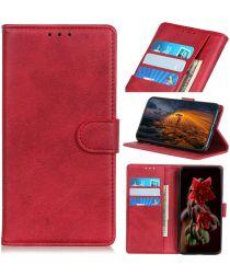 Motorola Moto E6 Play Hoesje Bookcase Met Stand Rood