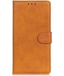 Motorola Moto E6 Play Bookcase Flip Hoesje Met Pasjes Bruin