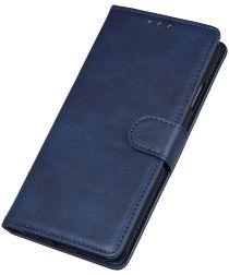Motorola Moto E6 Play Bookcase Hoesje Met Pasjes Blauw