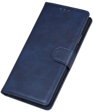 Motorola Moto E6 Play Bookcase Hoesje Met Pasjes Blauw Hoesjes