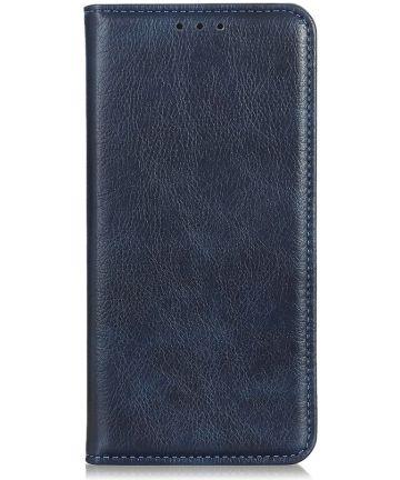 Motorola Moto E6 Play Splitleren Portemonnee Hoesje Blauw Hoesjes