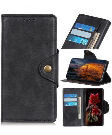 Motorola Moto G8 Plus Bookcase Hoesje Zwart Hoesjes
