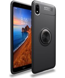 Xiaomi Redmi 7a TPU Hoesje met Standaard Zwart