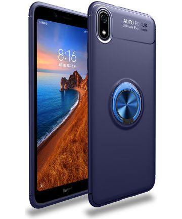 Xiaomi Redmi 7a TPU Hoesje met Standaard Blauw Hoesjes