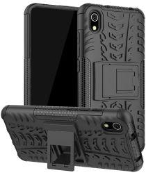 Xiaomi Redmi 7A Robuust Hybride Hoesje Zwart