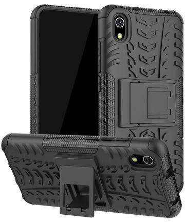 Xiaomi Redmi 7A Robuust Hybride Hoesje Zwart Hoesjes
