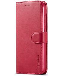 LC.IMEEKE Xiaomi Redmi 7A Stand Portemonnee Hoesje Rood