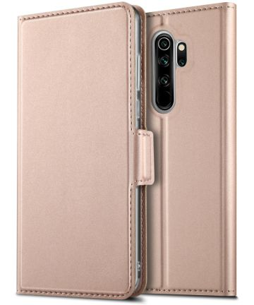 Xiaomi Redmi Note 8 Pro Business Hoesje met Kaarthouder Roze Goud Hoesjes