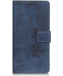 Asus Zenfone 6 Vintage Portemonnee Hoesje Blauw