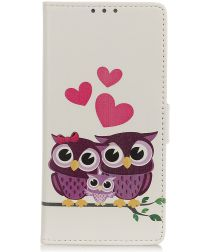 Wiko View 3 Portemonnee Hoesje Couple Owls