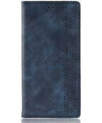 Wiko Y60 Stijlvol Vintage Portemonnee Hoesje Blauw