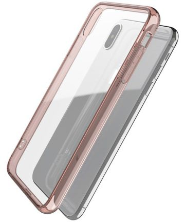 Raptic glass Plus Apple iPhone XS Max hoesje transparant roze Hoesjes