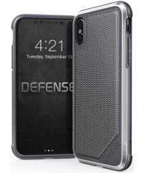 Defense Lux Apple iPhone XS / X Hoesje Leather Grijs