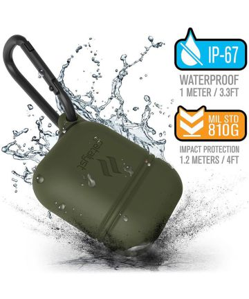 Catalyst Case Waterbestendig Hoesje Apple AirPods Army Green Hoesjes
