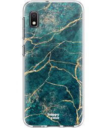 HappyCase Samsung Galaxy A10 Flexibel TPU Hoesje Aqua Marmer Print