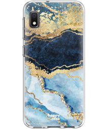 HappyCase Samsung Galaxy A10 Flexibel TPU Hoesje Blue Marble Print
