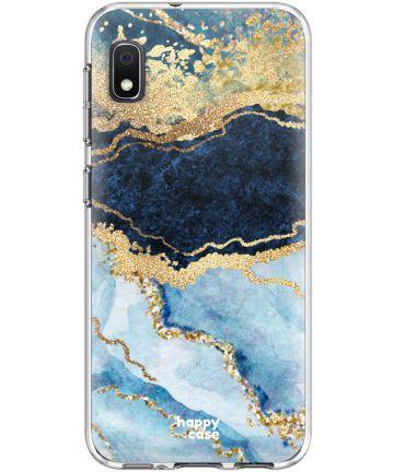 HappyCase Samsung Galaxy A10 Flexibel TPU Hoesje Blauw Marmer Print Hoesjes