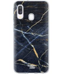 HappyCase Samsung Galaxy A20E Flexibel TPU Hoesje Donker Marmer Print
