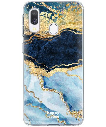 HappyCase Samsung Galaxy A20E Flexibel TPU Hoesje Blue Marble Print