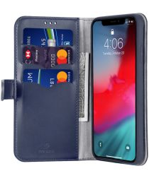 Dux Ducis Kado Series Apple iPhone 11 Pro Max Portemonnee Hoesje Blauw