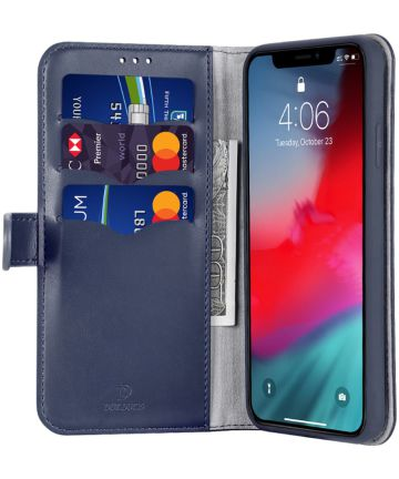 Dux Ducis Kado Series Apple iPhone 11 Pro Max Portemonnee Hoesje Blauw Hoesjes