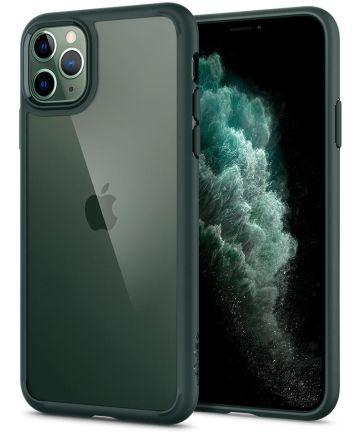 Spigen Ultra Hybrid Case Apple iPhone 11 Pro Max Groen Hoesjes