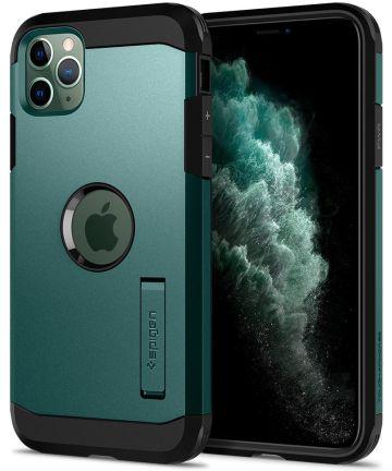 Spigen Tough Armor Case iPhone 11 Pro Max Midnight Green Hoesjes