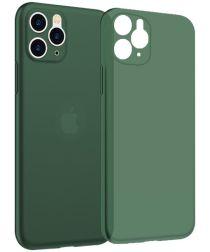 NXE Apple iPhone 11 Pro Hoesje Ultra Dun Hard Case Hoesje Groen