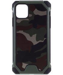 Apple iPhone 11 Hoesje Camouflage Groen