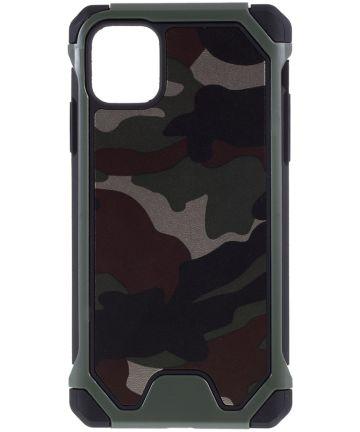 Apple iPhone 11 Hoesje Camouflage Groen Hoesjes