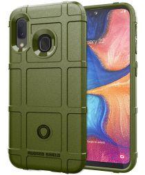 Samsung Galaxy A20e Anti-Shock TPU Hybride Hoesje Groen