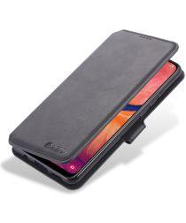 AZNS Samsung Galaxy A20e Portemonnee Stand Hoesje Zwart