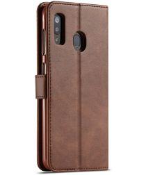 Samsung Galaxy A20e Portemonnee Stand Bookcase Hoesje Bruin