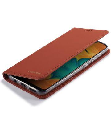 Samsung Galaxy A20e Portemonnee Stand Bookcase Hoesje Kunstleer Bruin Hoesjes