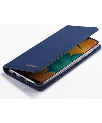 Samsung Galaxy A20e Portemonnee Stand Bookcase Hoesje Kunstleer Blauw Hoesjes