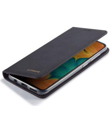 Samsung Galaxy A20e Portemonnee Stand Bookcase Hoesje Kunstleer Zwart Hoesjes