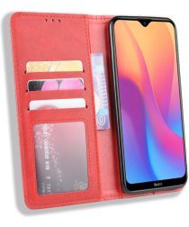 Xiaomi Redmi 8A Retro Portemonnee Hoesje Rood