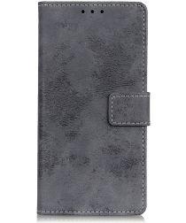 Xiaomi Redmi 8A Vintage Portemonnee Stand Hoesje Grijs
