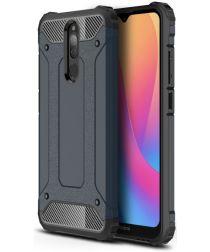 Xiaomi Redmi 8(A) Hybride Hoesje Donkerblauw