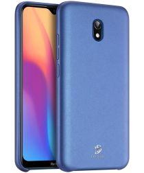Dux Ducis Skin Lite Kunstleren Coating Hoesje Xiaomi Redmi 8A Blauw