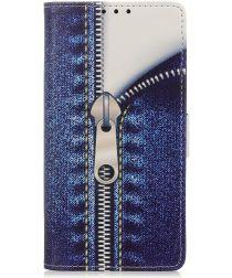 Xiaomi Mi Note 10 (Pro) Portemonnee Hoesje Print Blauw