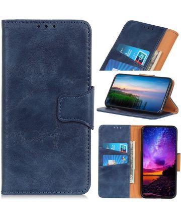 Xiaomi Redmi Note 8T Crazy Horse Leren Portemonnee Hoesje Blauw Hoesjes